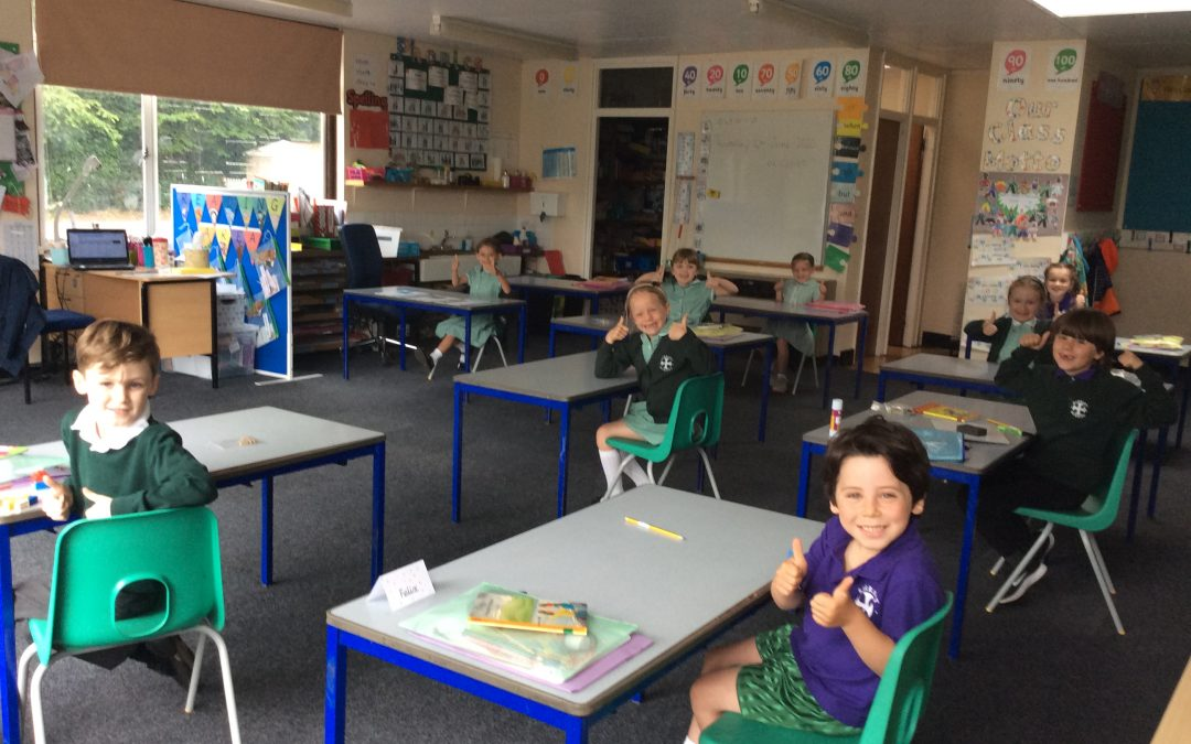 Big Smiles as Children Return to School